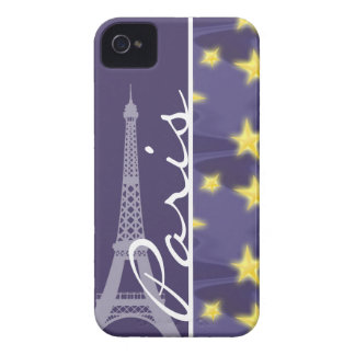 Paris Starry Night; Eiffel Tower iPhone 4 Case-Mate Cases