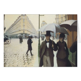 Paris Street, Rainy Day by Caillebotte Card