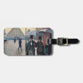Paris Street Rainy Day by Gustave Caillebotte Bag Tag