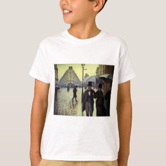 Paris Street Rainy Day by Gustave Caillebotte Tee Shirt