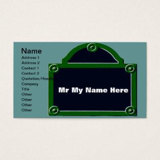 Paris Street Sign Edit Name Business Card