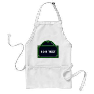 Paris Street Sign Edit Your Name Added Standard Apron