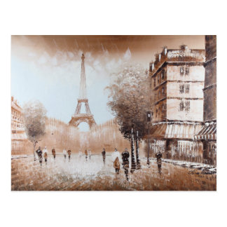 Paris Streets Postcard