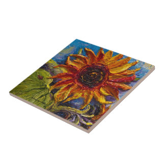 Paris' Sunflowers Tile