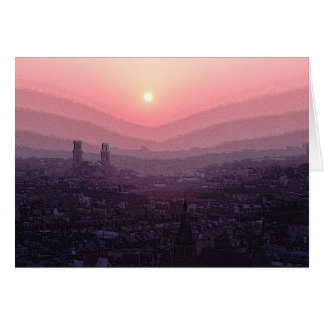 Paris Sunset Card