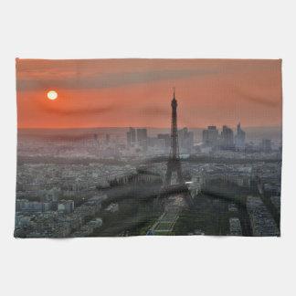 Paris Sunset Kitchen Towel