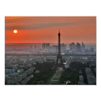 Paris Sunset Photo Print