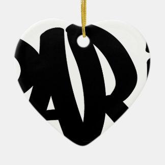 paris-tag ceramic ornament
