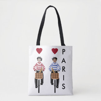 Paris the city of love tote bag