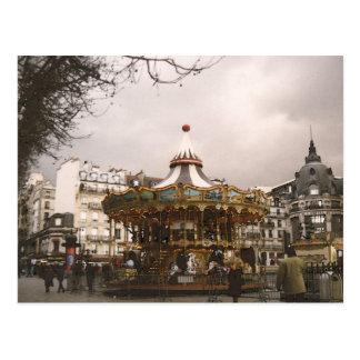 Paris the horse-gear postcard