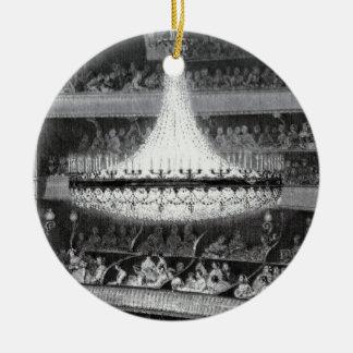 Paris Theater and Stage Round Ceramic Ornament