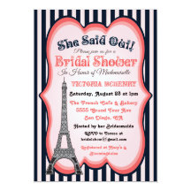 Paris bridal shower invitations announcements zazzle ca filmwisefo Choice Image