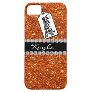 Paris Theme CORAL Crystal BLING  IPHONE  5 Case