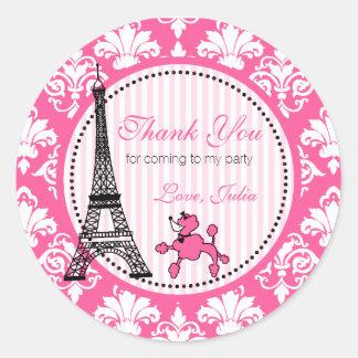 Paris Theme Party Stickers