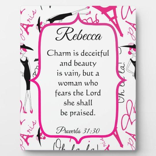 Paris Theme Proverbs 31 Woman Plaque