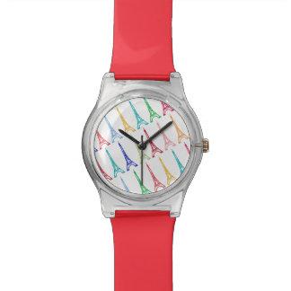 paris theme wristwatch