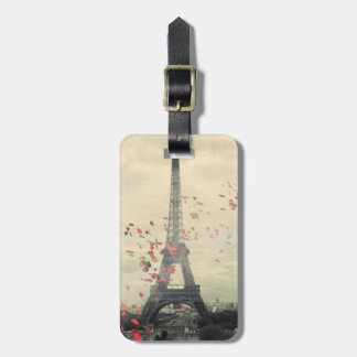 Paris Themed Luggage Tag