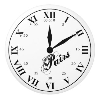 Paris Time Ceramic Knob
