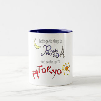 Paris Tokyo Two-Tone Coffee Mug