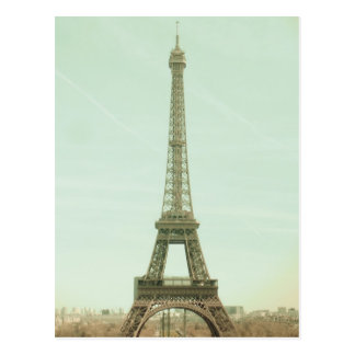 Paris ton amour; Eiffel to tower in vintage tones Postcard