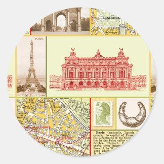 Paris Tour Classic Round Sticker