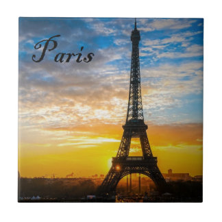 Paris Tour Eiffel in Sunset (St.K) Ceramic Tiles