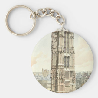 Paris, Tour Saint Jacques Basic Round Button Keychain