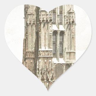 Paris, Tour Saint Jacques Heart Sticker