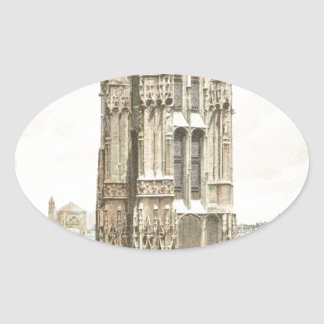 Paris, Tour Saint Jacques Oval Sticker