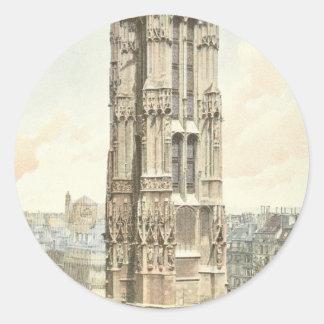 Paris, Tour Saint Jacques Round Sticker