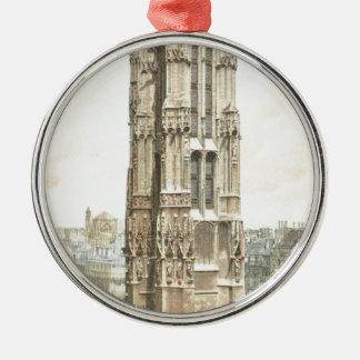 Paris, Tour Saint Jacques Silver-Colored Round Ornament