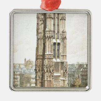 Paris, Tour Saint Jacques Silver-Colored Square Ornament