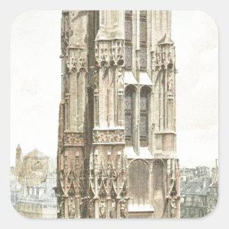 Paris, Tour Saint Jacques Square Sticker