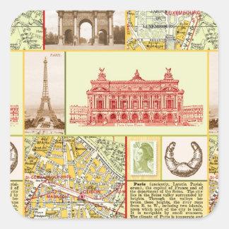 Paris Tour Square Sticker