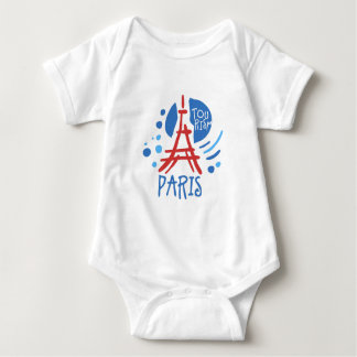 Paris tourism baby bodysuit