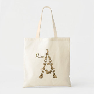 Paris Tower of Cats Tote Bag