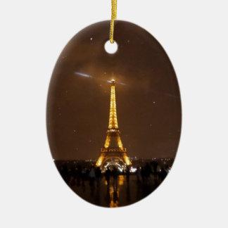 Paris Under The Stars Eiffel Tower Ceramic Oval Ornament