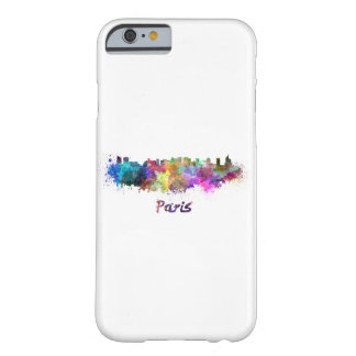 Paris V2 skyline in watercolor Barely There iPhone 6 Case