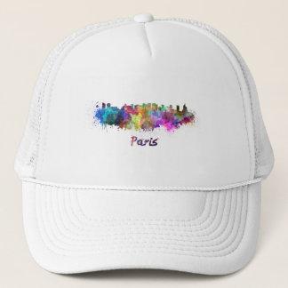 Paris V2 skyline in watercolor Trucker Hat