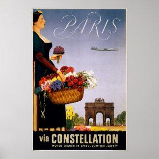 Paris via Constellation Poster