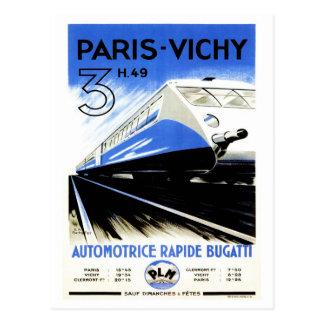 Paris-Vichy Train Postcard