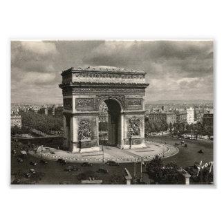 Paris vintage Arc de Triomphe 1943 Art Photo
