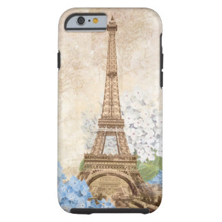 Paris Vintage Blue Hydrangea iPhone 6 case