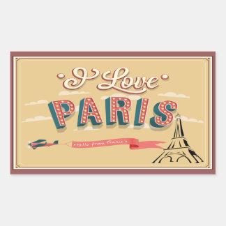 Paris Vintage Luggage Label
