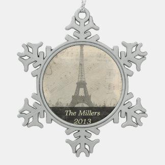 Paris Vintage Music Ornament