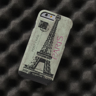 Paris Vintage Postcard Eiffel Tower Tough iPhone 6 Case