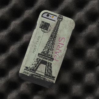 Paris Vintage Postcard Eiffel Tower Tough iPhone 6 Case
