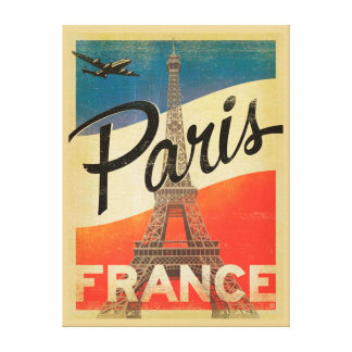 Paris Vintage Travel Canvas Print