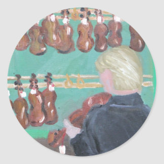 Paris Violin Shop Classic Round Sticker