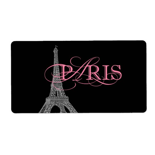 Paris Water Bottle Shipping Label